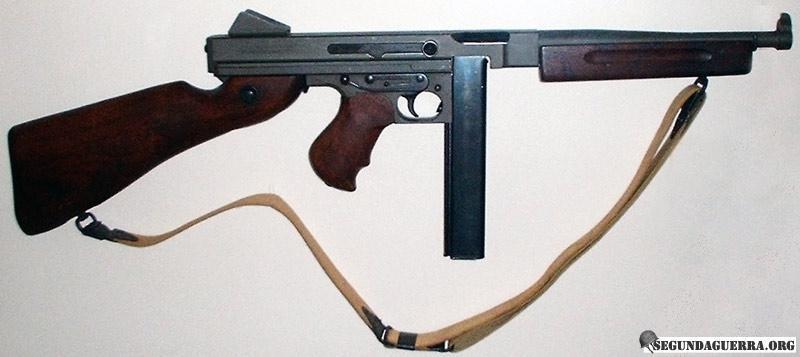 Armas da FEB - Submetralhadora Thompson M1A1