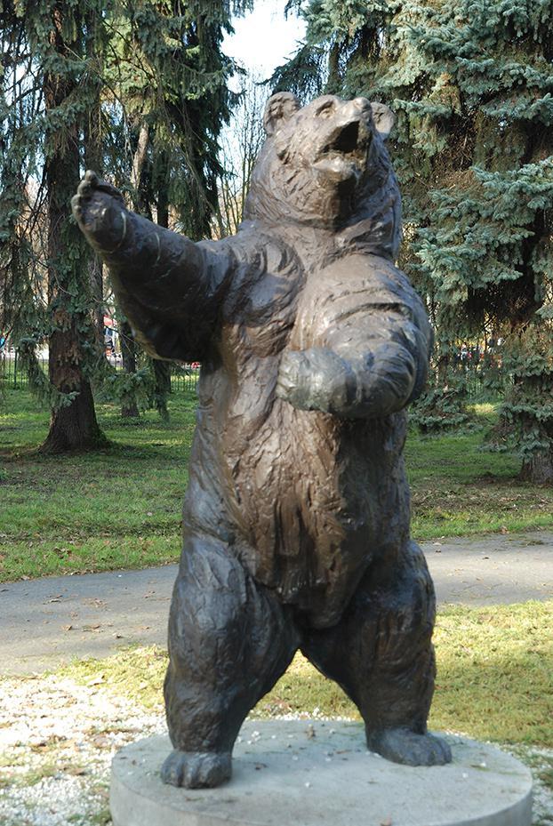 Estátua de Wojtek na Polônia