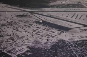 Impressionante vista da Base Americana em Natal em 1944 (Foto: BANT)