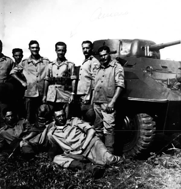 2º Ten Amaro Felicíssimo da Silveira e o 2º Sgt Pedro krinski