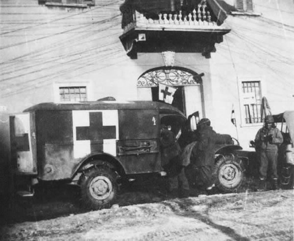 Batalhão de Saúde na Itália.