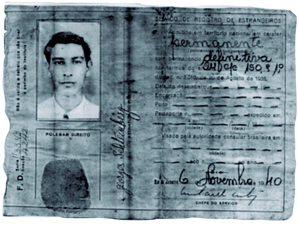 Cartão de Identidade Georges-Schteinberg