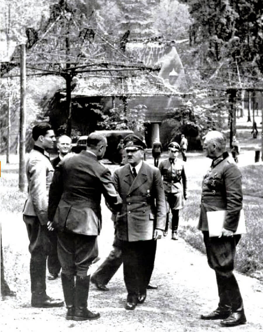 Stauffenberg e Hitler