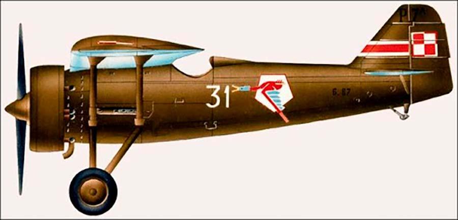 Caça polonês P.7 - Força Aérea Polonesa